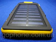 Power Bank Solar 10000mAh Yellow + Фонарик, фото 2