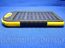 Power Bank Solar 10000mAh Yellow + Фонарик, фото 3