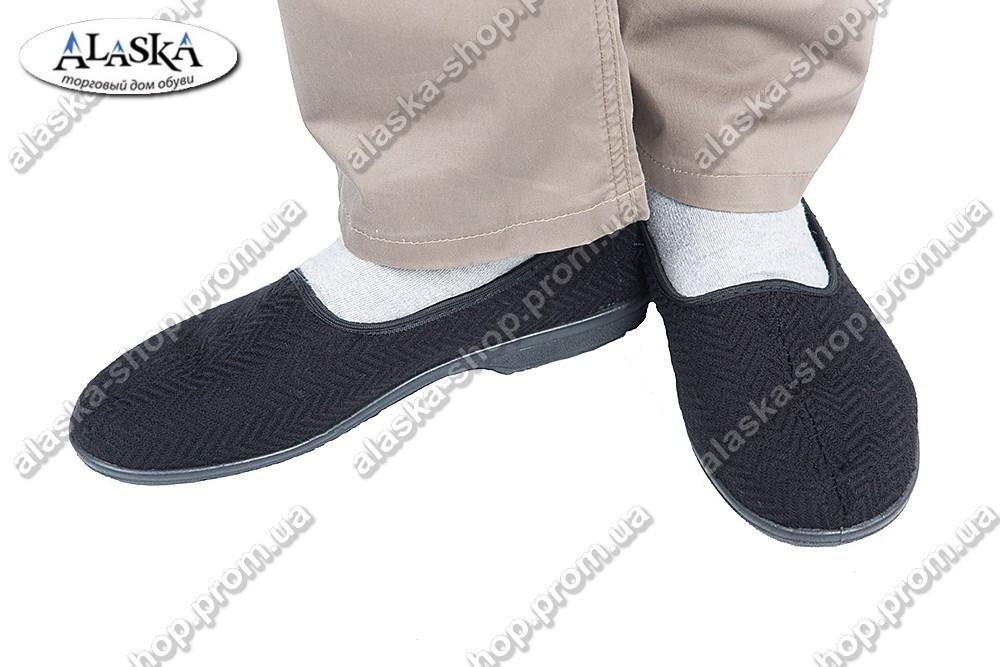 Мужские тапки черные (Код: ТК-02)