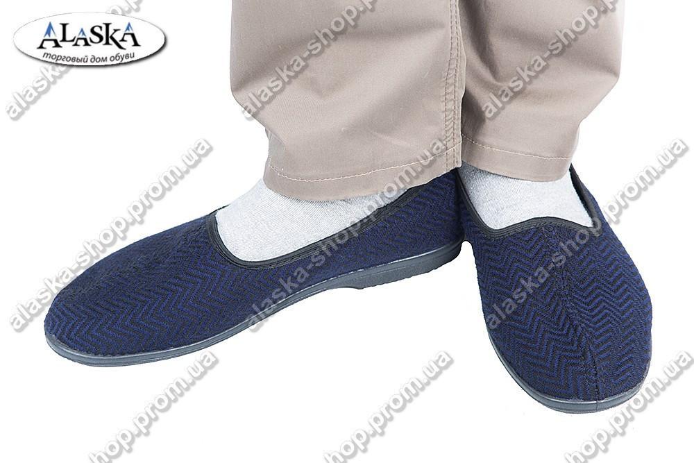 Мужские тапочки синие (Код: ТК-02)