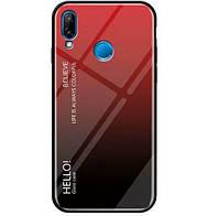 TPU+Glass чехол Gradient HELLO для Xiaomi Redmi Note 7