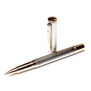 Ручка роллер Crocоdile 200035 серебристая