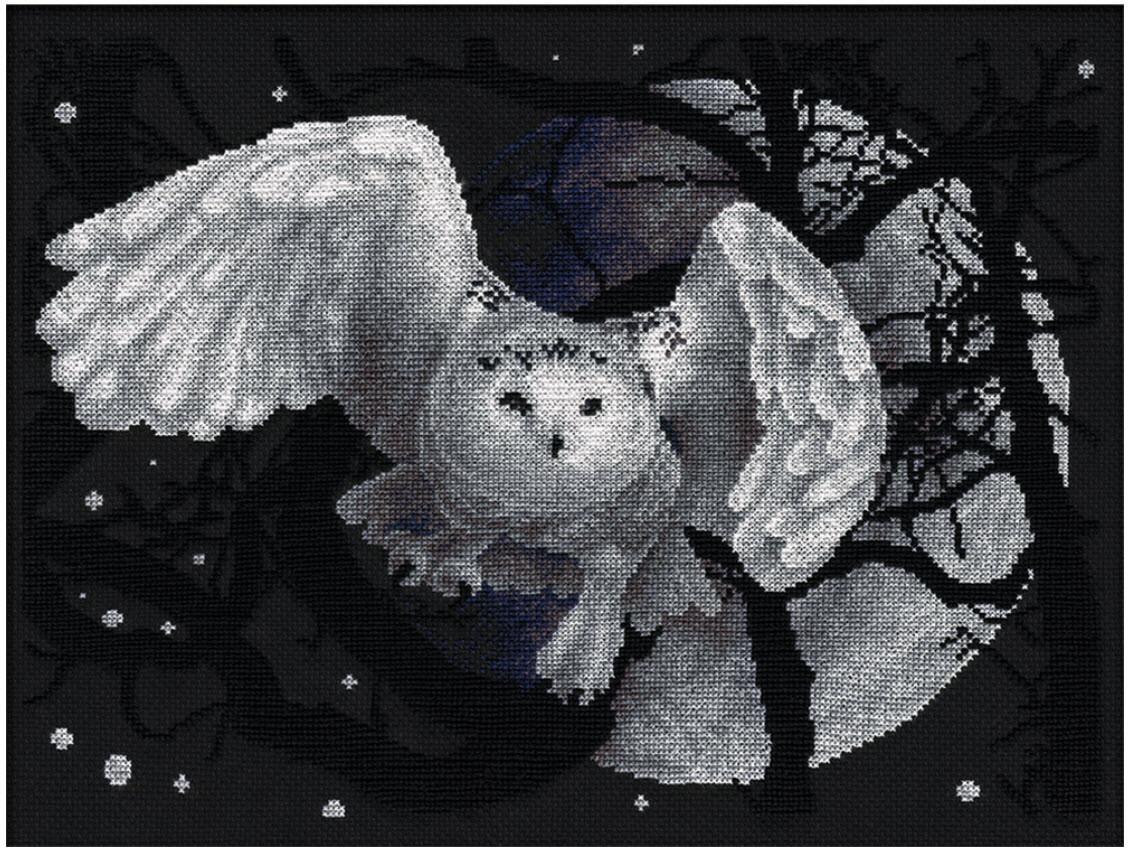 Набір для вишивки хрестом Panna Ж-0359 «Біла сова»