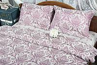 Постельное белье Deco Bianca сатин жаккард 17-05 bordo евро
