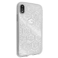 Накладка силикон EvoGem Lotos for Apple iPhone XS (clear)