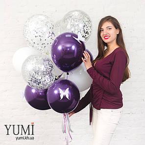 Красивая композиция из шариков с гелием для подруги, фото 2