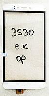 Сенсор (тачскрін) Prestigio MultiPhone PSP 3530 Muze D3, 3531 Muze E3, 7530 Muze A7,  білий