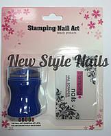 Набор для стемпинга синийштамп и скрапер Stamping Naill Art