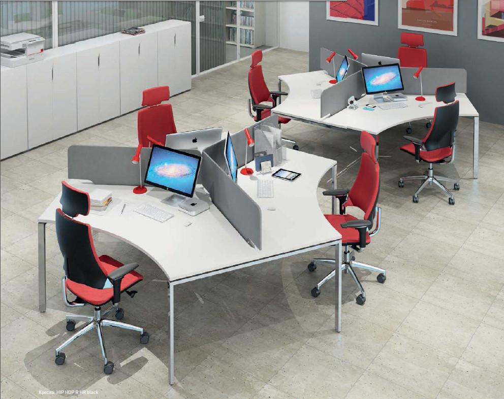 Рабочее место 6х офисных сотрудников М1