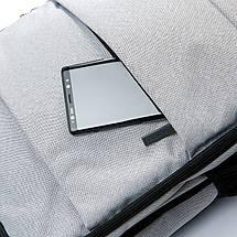 Рюкзак мужской городской светло - серый , фото 3