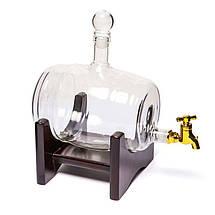 """Набор для виски """"Бочка-2"""" (штоф 1000 мл. + 2 стакана """"Діамант""""), фото 3"""
