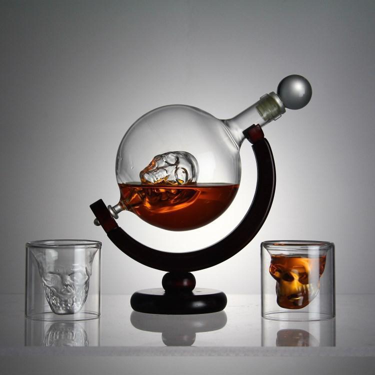 """Набор для виски подарочный """"Доктор Фауст"""" (штоф стекло 850мл + 2 стакана)"""
