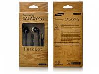Наушники вакуумные Samsung S4 с микрофоном белые/черные