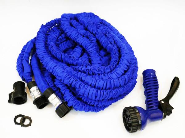 Садовый шланг для полива x hose 30м с распылителем