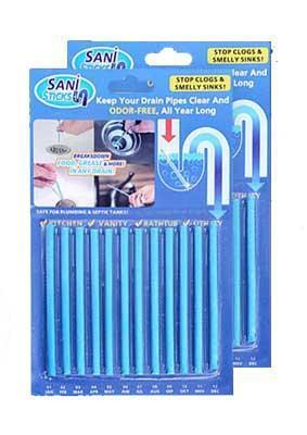 Палочки для устранения засоров в трубах, Чистещее средство Sani STICKS