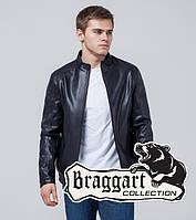 Куртка мужская демисезон кожзам синяя Braggart 1588Q