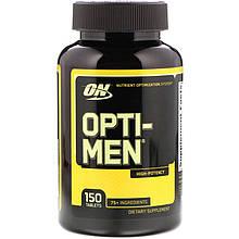 """Комплекс для чоловіків Optimum Nutrition """"Opti-Men"""" вітаміни та мінерали (150 таблеток)"""