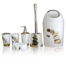 Набор аксессуаров для ванной комнаты Bathlux Stone на 6 предметов