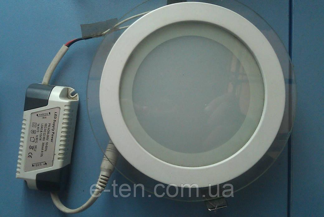 Точечный светодиодный светильник Down Light 12W круглый