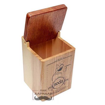 """Емкость для соды деревянная """"Soda"""" с поваром, фото 2"""