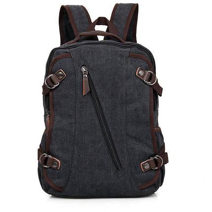 Рюкзак мужской городской тёмно-синий Canvas, фото 2