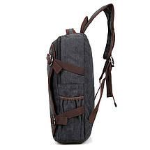 Рюкзак мужской городской тёмно-синий Canvas, фото 3