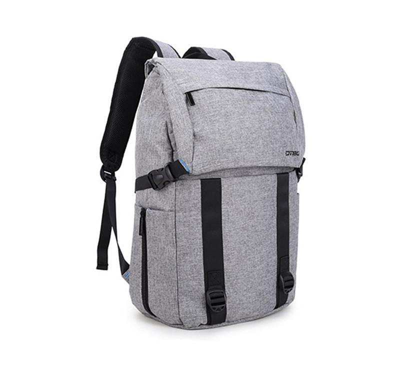 Рюкзак женский городской серый с USB портом