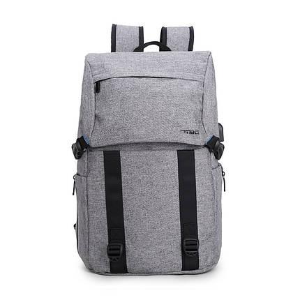 Рюкзак женский городской серый с USB портом, фото 2