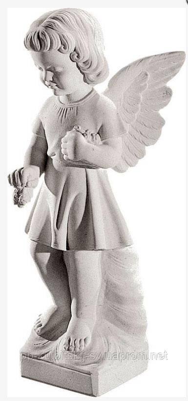 Скульптура Ангелочка на могилу К293, фото 1