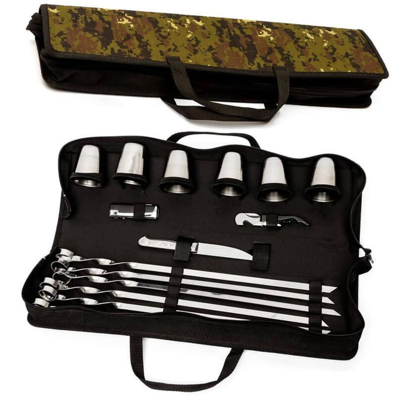 Набор для шашлыка, пикника подарочный для шести шашлыков