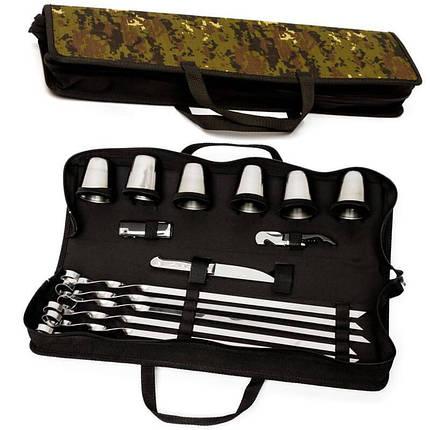 Набор для шашлыка, пикника подарочный для шести шашлыков, фото 2