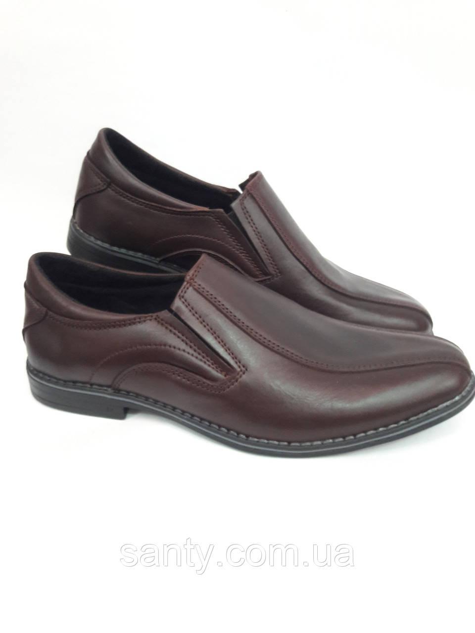 Мужские классические туфли из натуральной кожи