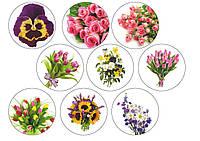 Вафельная картинка Цветы 2