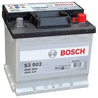 Автомобильный аккумулятор Bosch S3 (S3 002): 45 Ач, плюс: справа, 12 В, 400 А - (0092S30020), 207x175x190 мм