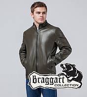 Куртка мужская кожзам хаки Braggart 1588T
