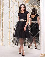 Прелестная юбка с евросеткой  и надписью на поясе