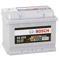 Автомобильный аккумулятор Bosch S5 Silver Plus (S5 005): 63 Ач, плюс: справа, 12 В, 610 А - (0092S50050), 242x175x190 мм