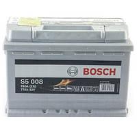 Автомобильный аккумулятор Bosch S5 Silver Plus (S5 008): 77 Ач, плюс: справа, 12 В, 780 А - (0092S50080), 278x175x190 мм