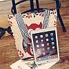 Эко-сумка бежевая с изображением совы, фото 2
