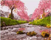 Картина по номерам Река у сакуры