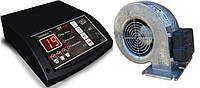 Комплект автоматики для твердотопливных котлов mplusm ST-24 + вентилятор WPA117