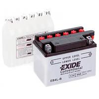Аккумуляторы мото Exide EB4L-B: 4 А·ч - 12 V; 50 (EB4L-B), 120x70x92 мм