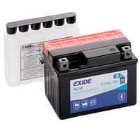 Аккумуляторы мото Exide ETX4L-BS: 3 А·ч - 12 V; 50 (ETX4L-BS), 113x70x85 мм