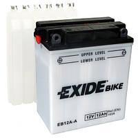 Аккумуляторы мото Exide EB12A-A: 12 А·ч - 12 V; 165 (EB12A-A), 134x80x160 мм