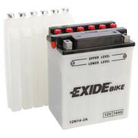 Аккумуляторы мото Exide 12N14-3A: 14 А·ч - 12 V; 130 (12N14-3A), 134x89x166 мм