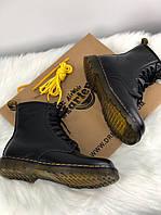 Обувь ботинки Dr martens Fur High Black Мех Черные Высокие