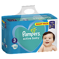 "Подгузники ""Рampers Active Baby Giant Pack"" 3 (6-10 кг) 90 шт."