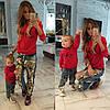 Family look. Пары - парные свитшоты Louboutin для мамы и дочки