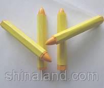 Желтый мел восковой, водостойкий для шинионтажа (Дорожная карта S-489Y) - упаковка (12 шт.)
