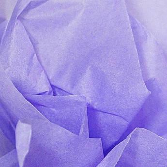 Папиросная бумага тишью лавандовая 50 х 70 см